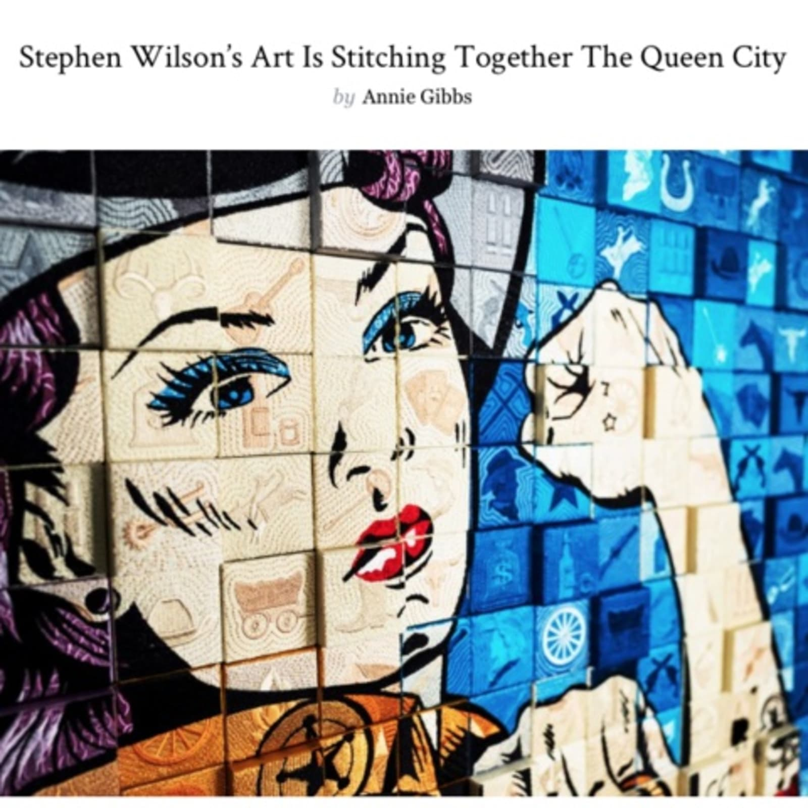 Stephen Wilson's art is stitching together the Queen City