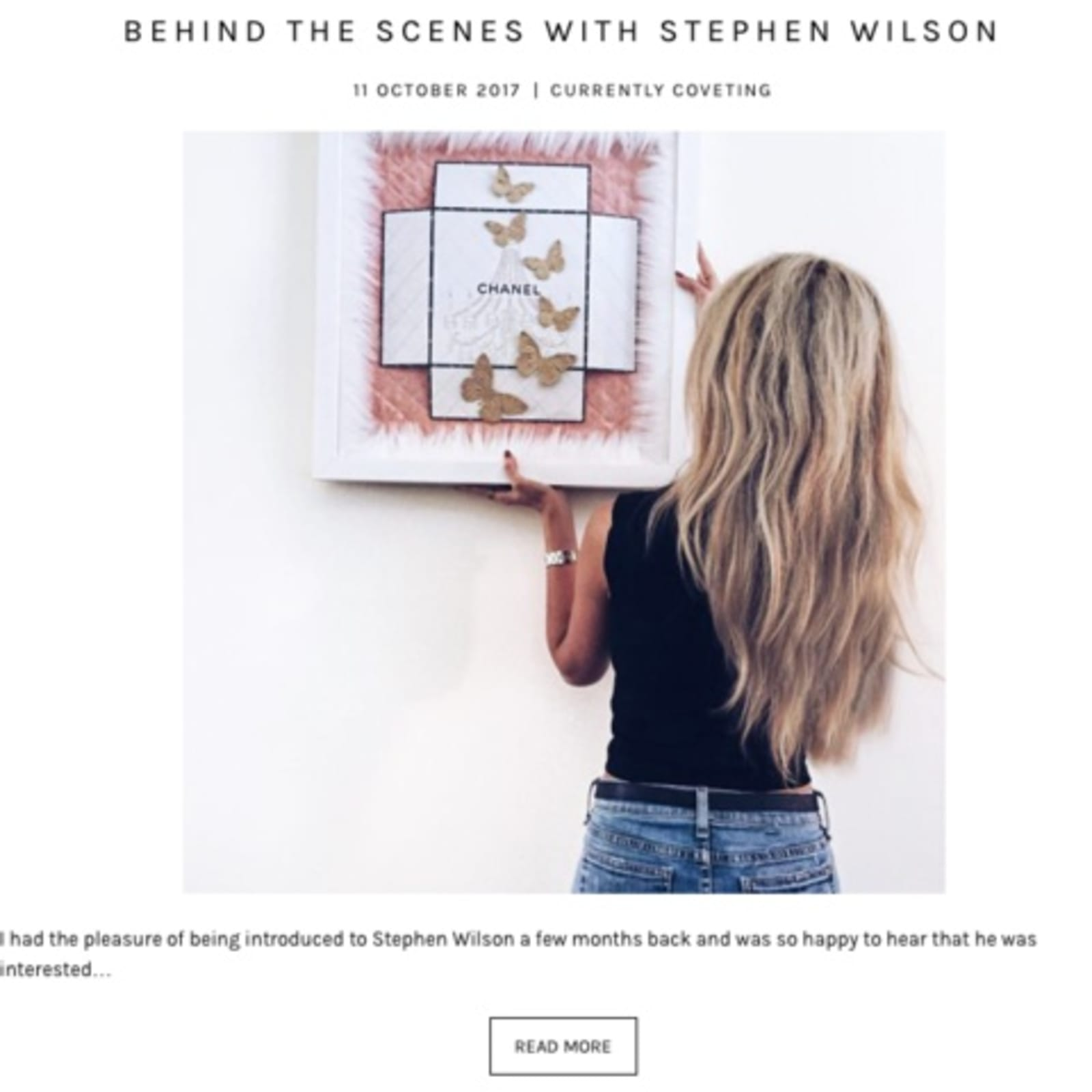 behind the scenes with Stephen Wilson