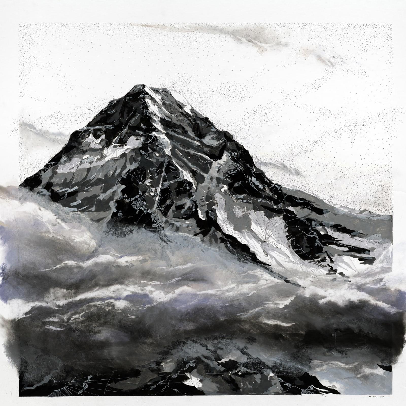Val d'Isère, Savoie, France, Pen, Marker & Pastel on Mountboard, 150cm x 100cm, £3200
