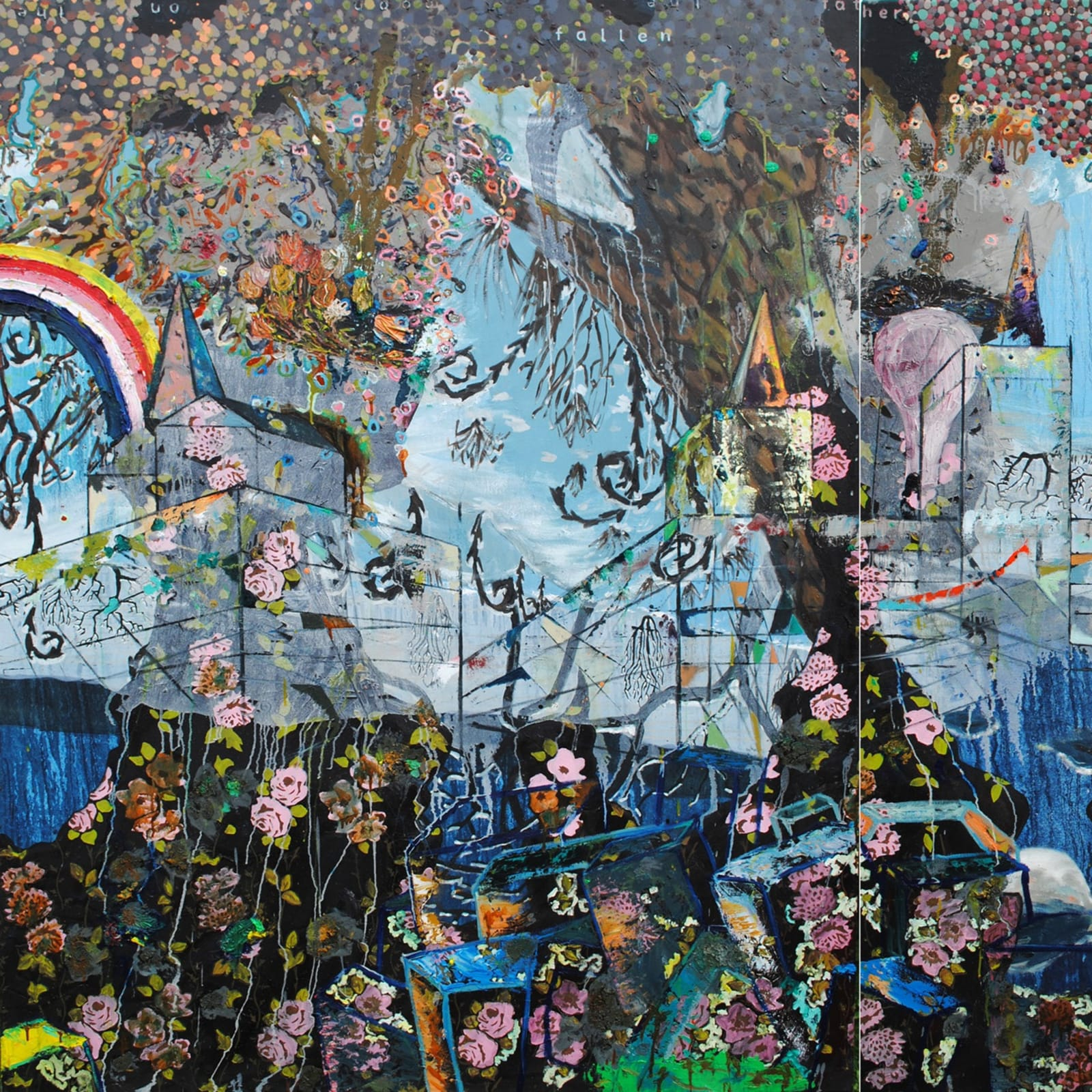 'Made of breath only', diptych, oil on canvas, 180 x 280cm (State Collection)