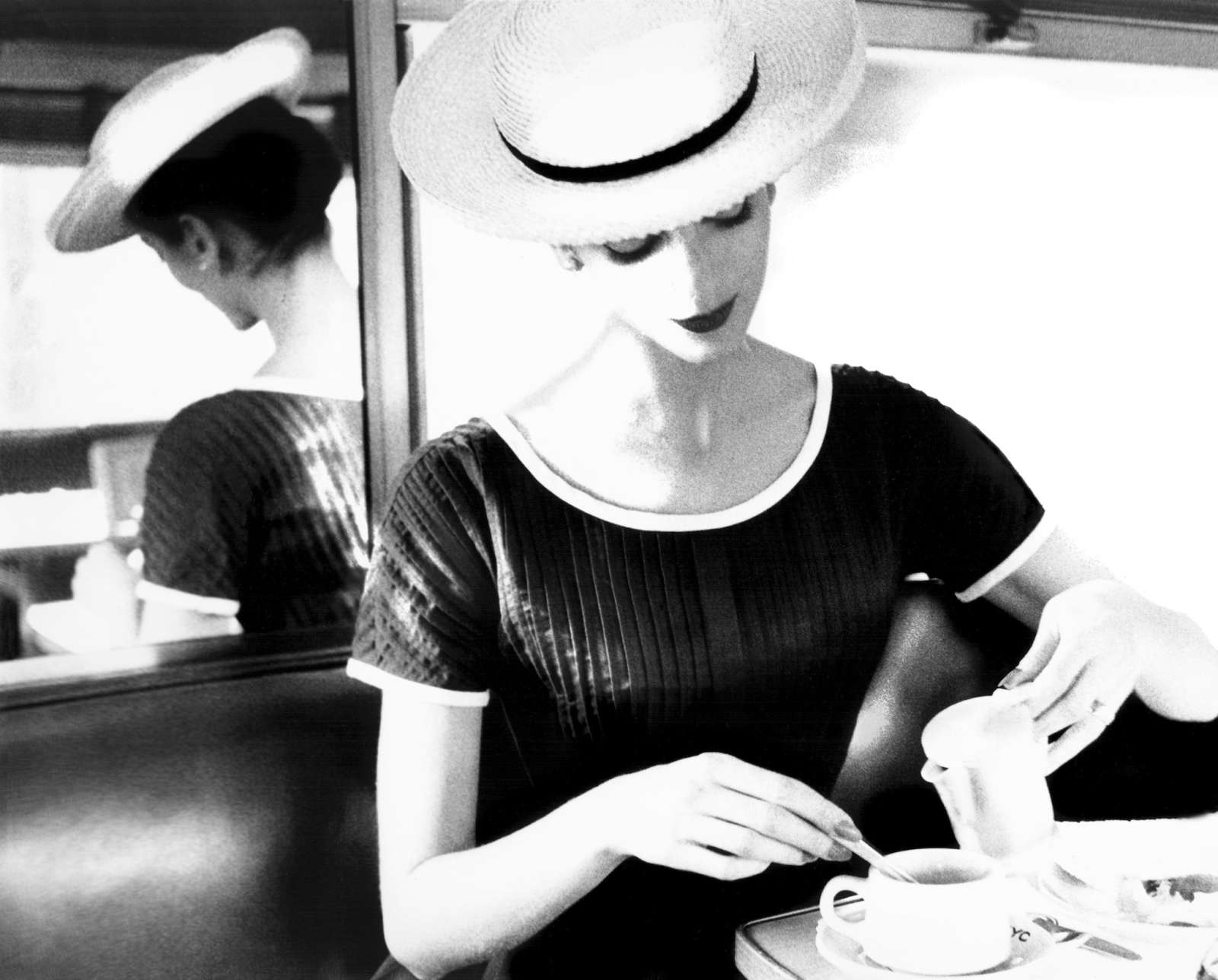 Lillian Bassman, Carmen Having Tea, circa 1950