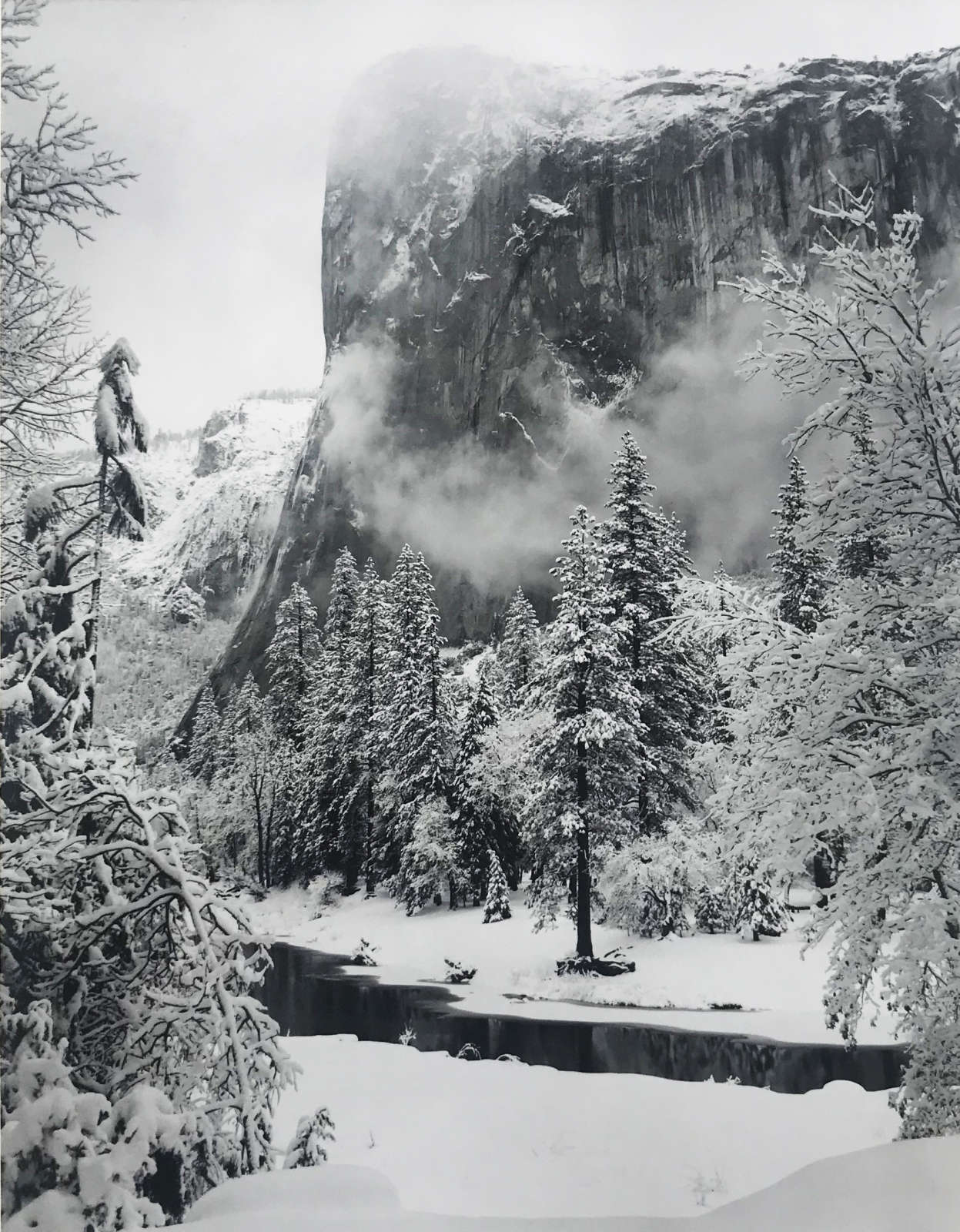 Ansel Adams, El Capitan, Yosemite Valley, CA, Winter, c. 1950