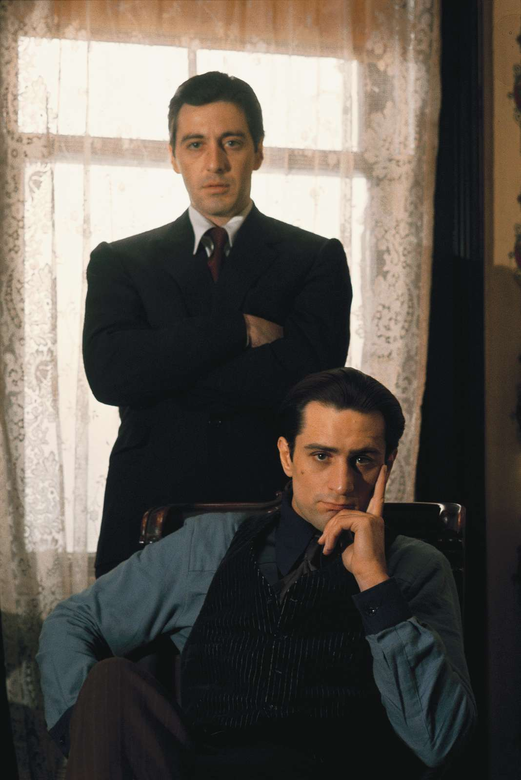 Pacino and DeNiro, Godfather II, 1973