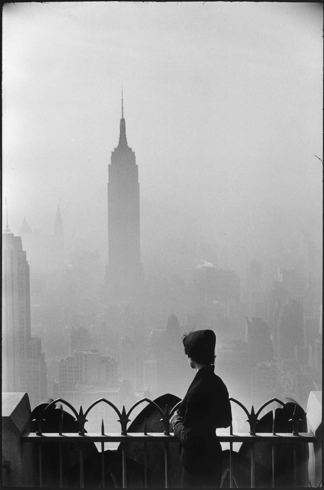 New York City (Woman with Empire State Building), 1955