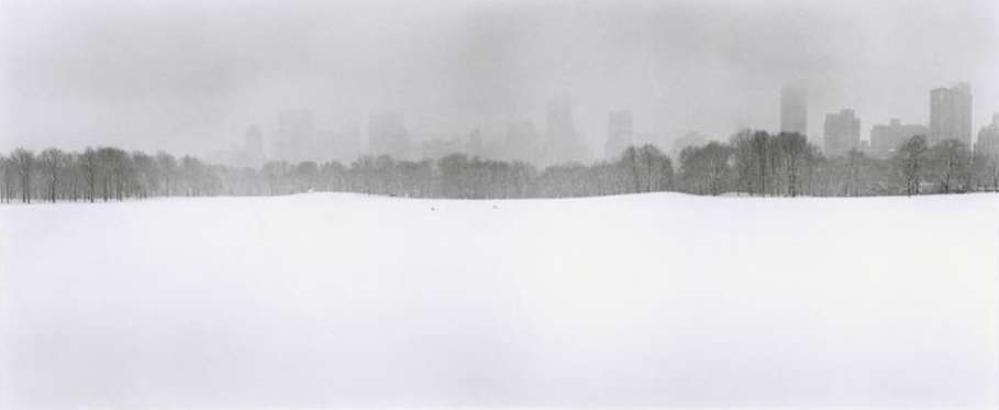 Looking South at the city from the Great Lawn in Central Park, New York City, USA, 1992