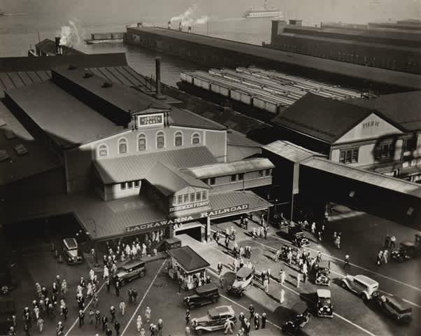 Berenice Abbott, Hoboken Ferry Terminal, Barclay Street, New York, 1935