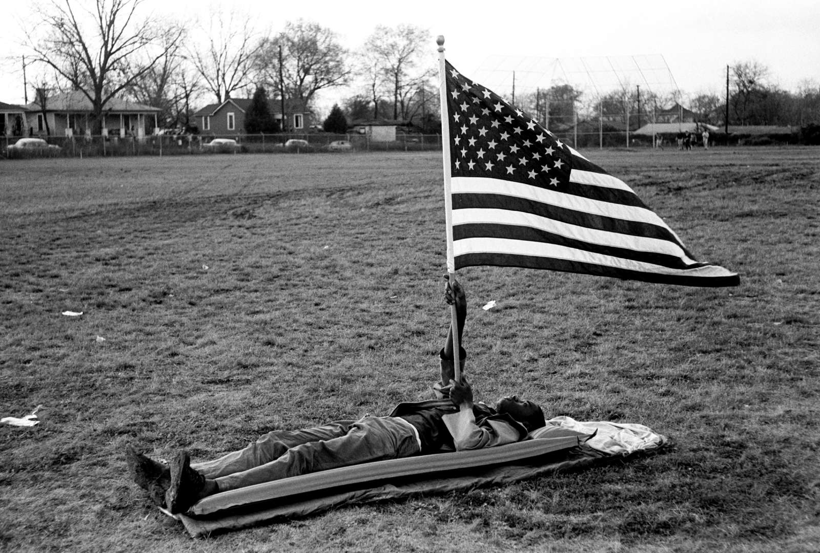 Boy With the Flag on Ground, 1965