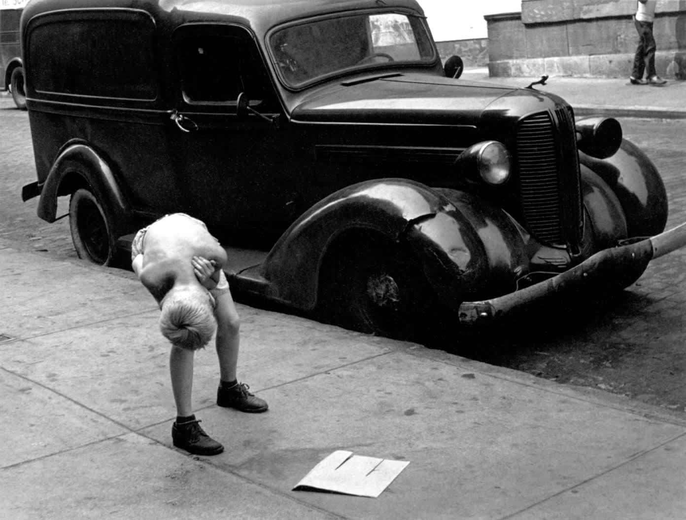 New York, (Boy Bending Over), 1940