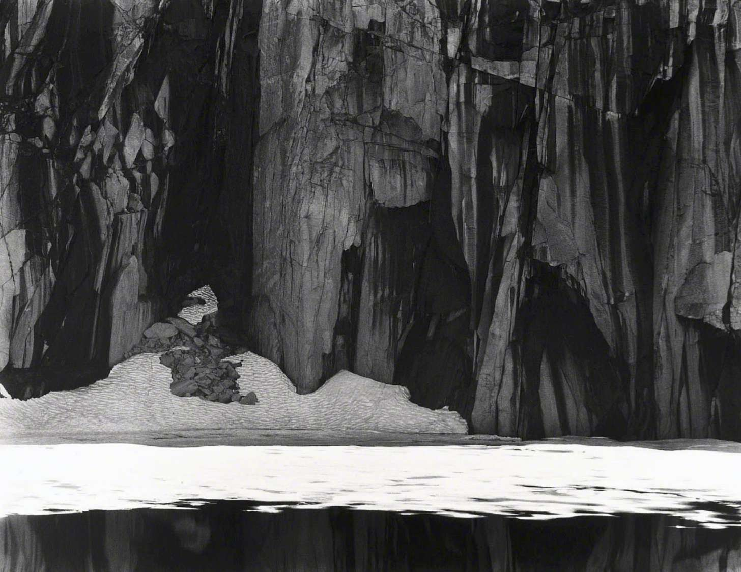 Frozen Lake and Cliffs, Kaweah Gap Sequoia National Park. California, 1927