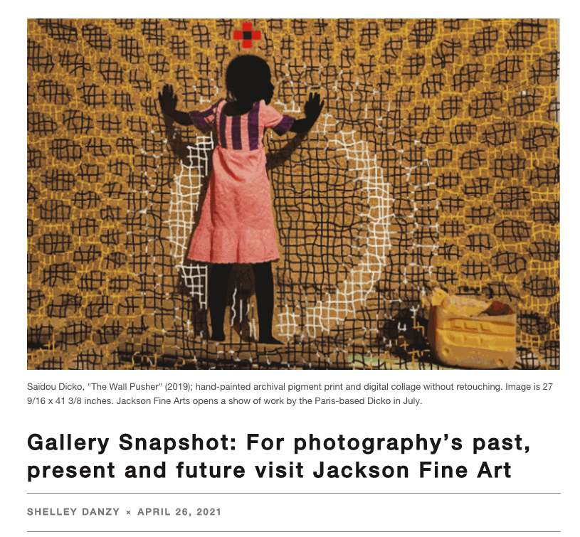 Gallery Snapshot: For photography's past, present and future visit Jackson Fine Art