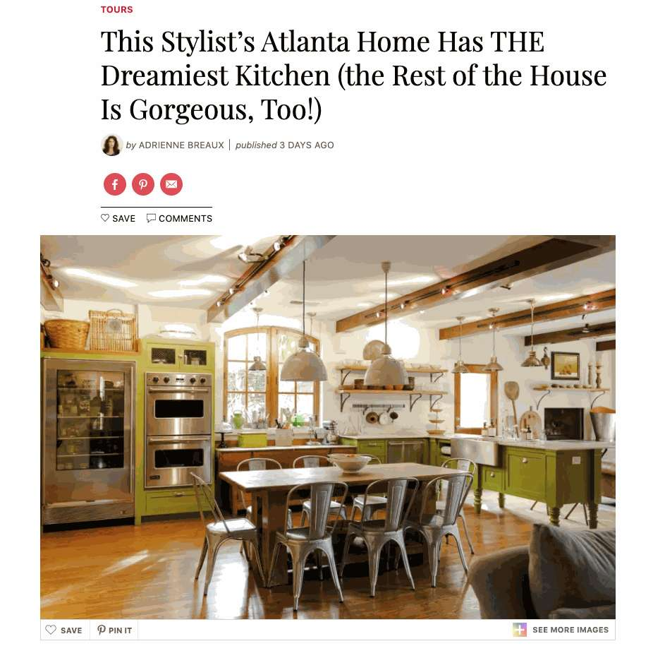 This Stylist's Atlanta Home Has THE Dreamiest Kitchen