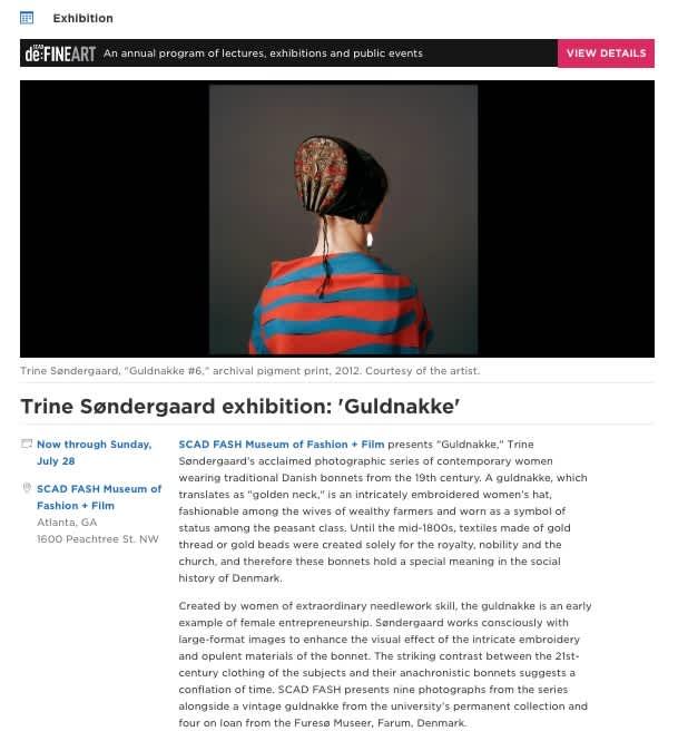 Trine Søndergaard exhibition: 'Guldnakke'