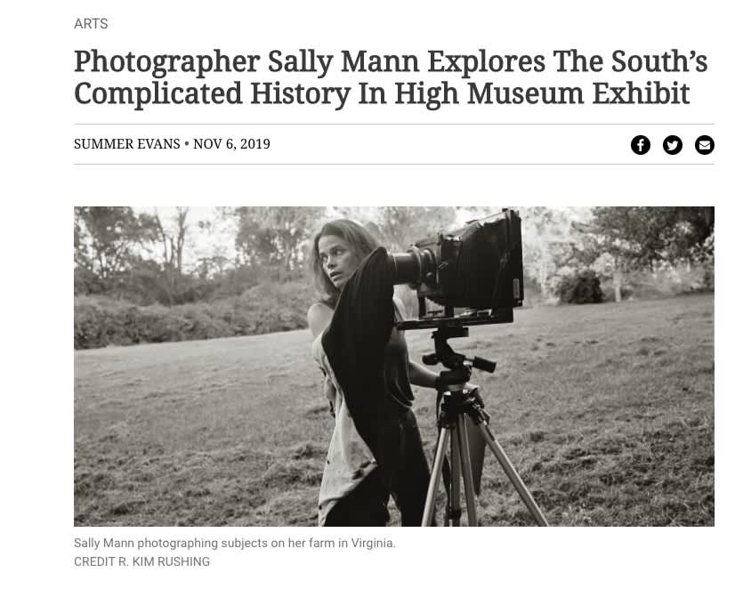 Photographer Sally Mann Explores The South's Complicated History In High Museum Exhibit