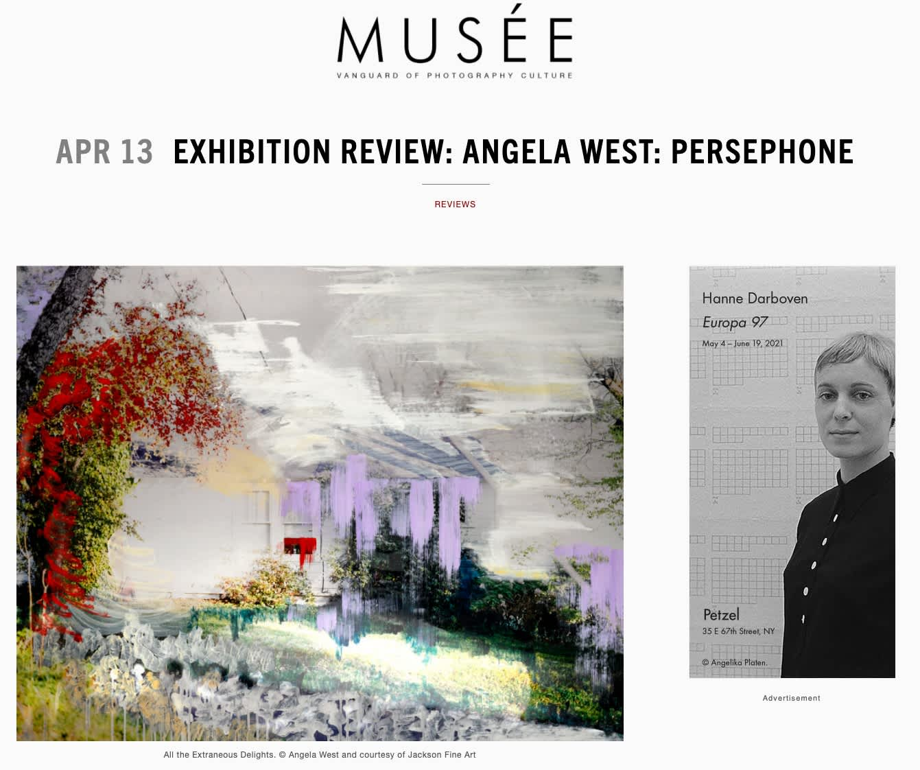 Exhibition Review: Angela West: Persephone