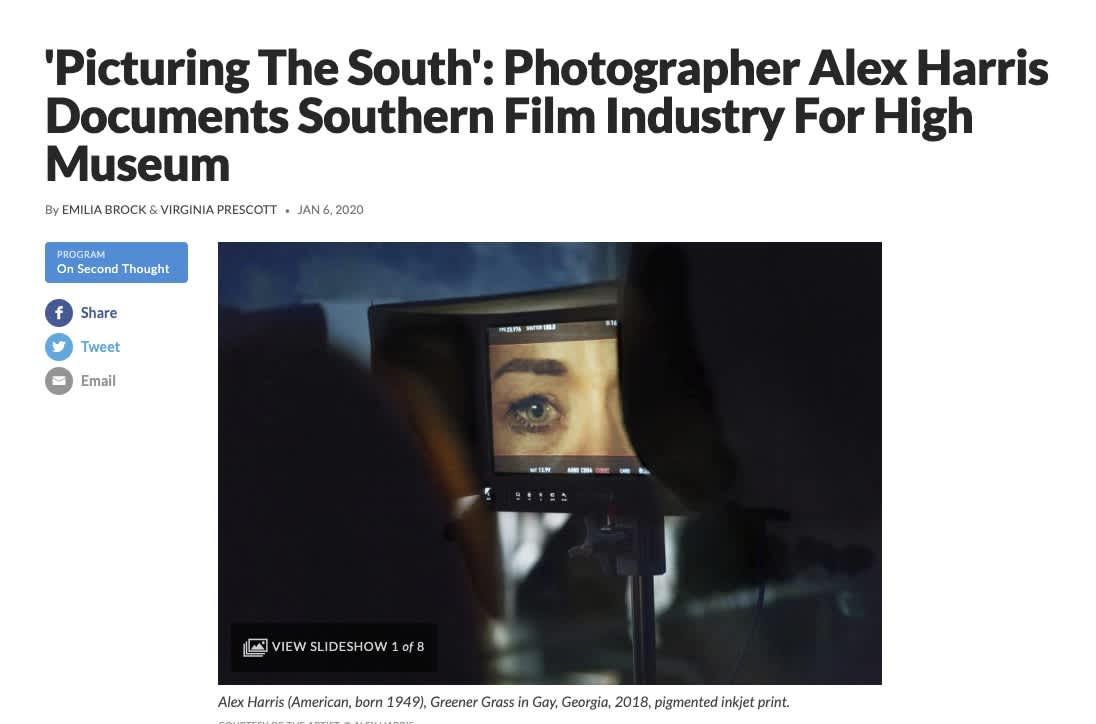 Picturing The South': Photographer Alex Harris Documents Southern Film Industry For High Museum
