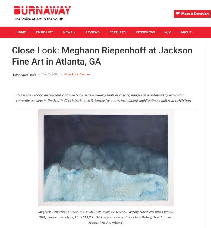 Close Look: Meghann Riepenhoff at Jackson Fine Art in Atlanta, GA