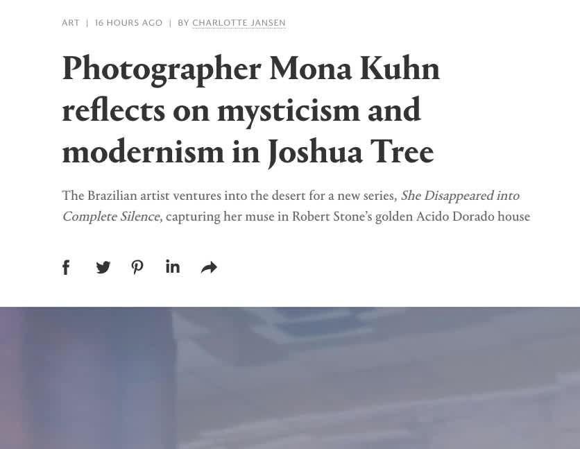 Photographer Mona Kuhn reflects on mysticism and modernism in Joshua Tree