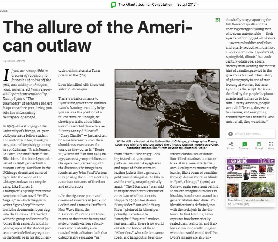 The allure of the American outlaw