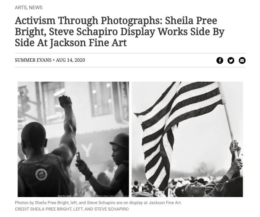 Activism Through Photographs: Sheila Pree Bright, Steve Schapiro Display Works Side By Side At Jackson Fine Art