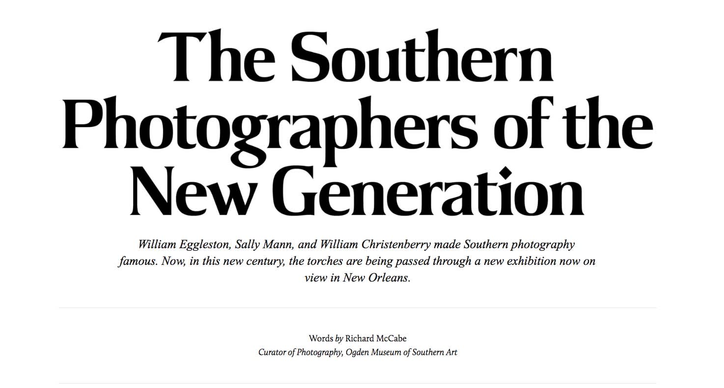 The Southern Photographers of the New Generation