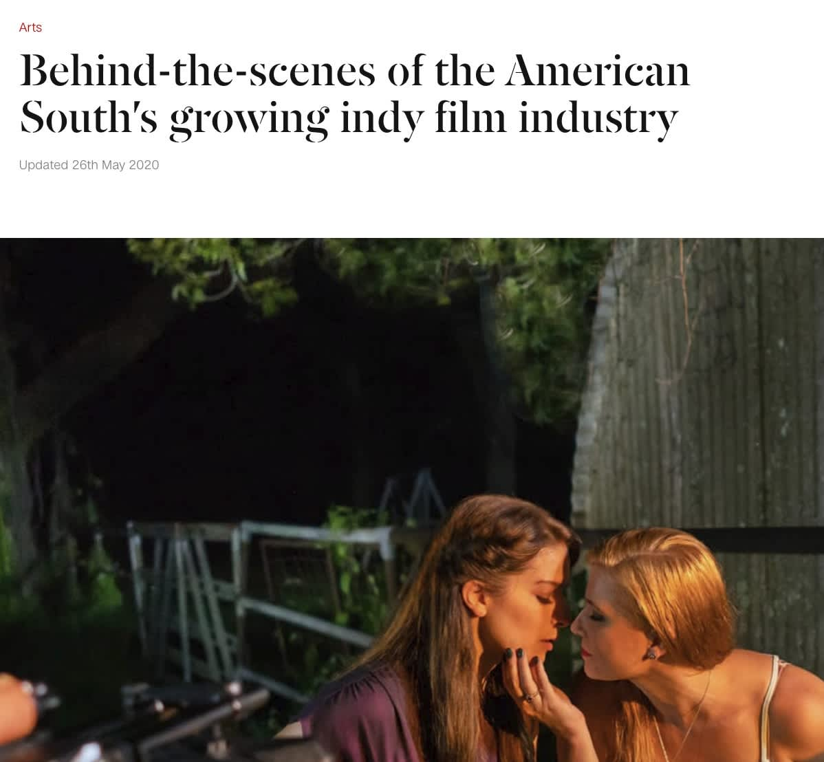 Behind-the-scenes of the American South's growing indy film industry