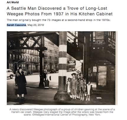A Seattle Man Discovered a Trove of Long-Lost Weegee Photos From 1937 in His Kitchen Cabinet