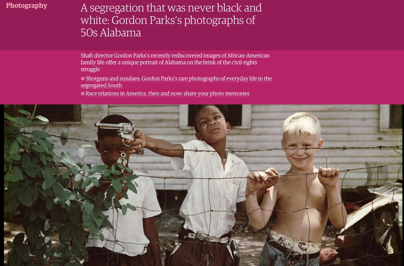 Gordon Parks' Segregation Story in The Guardian