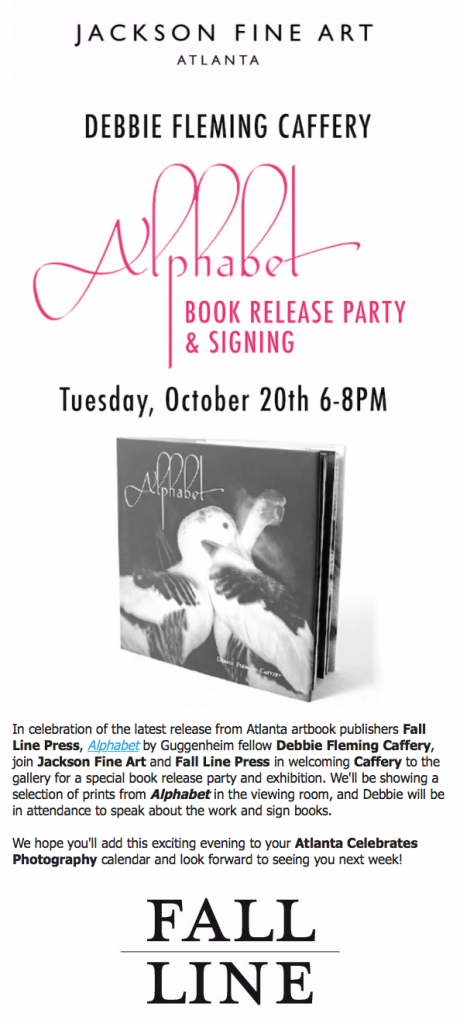 Debbie Fleming Caffery, Alphabet: Book Release + Signing