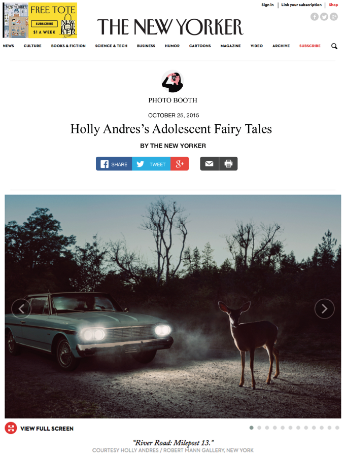 Holly Andres' Adolescent Fairy Tales in The New Yorker