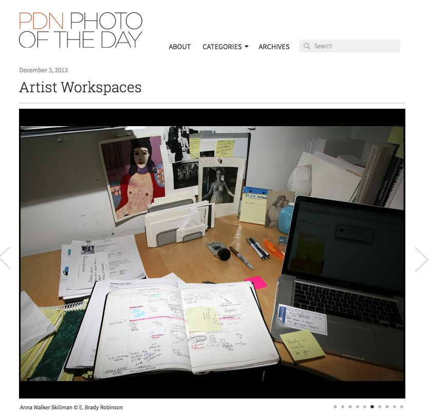 E. Brady Robinson photographs Anna's desk for her new book, featured on PDN's Photo of the Day