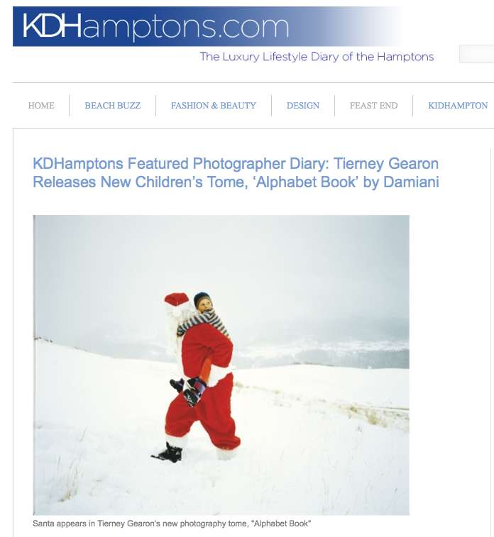 KD Hamptons features Alphabet Book on their Photographer Diary