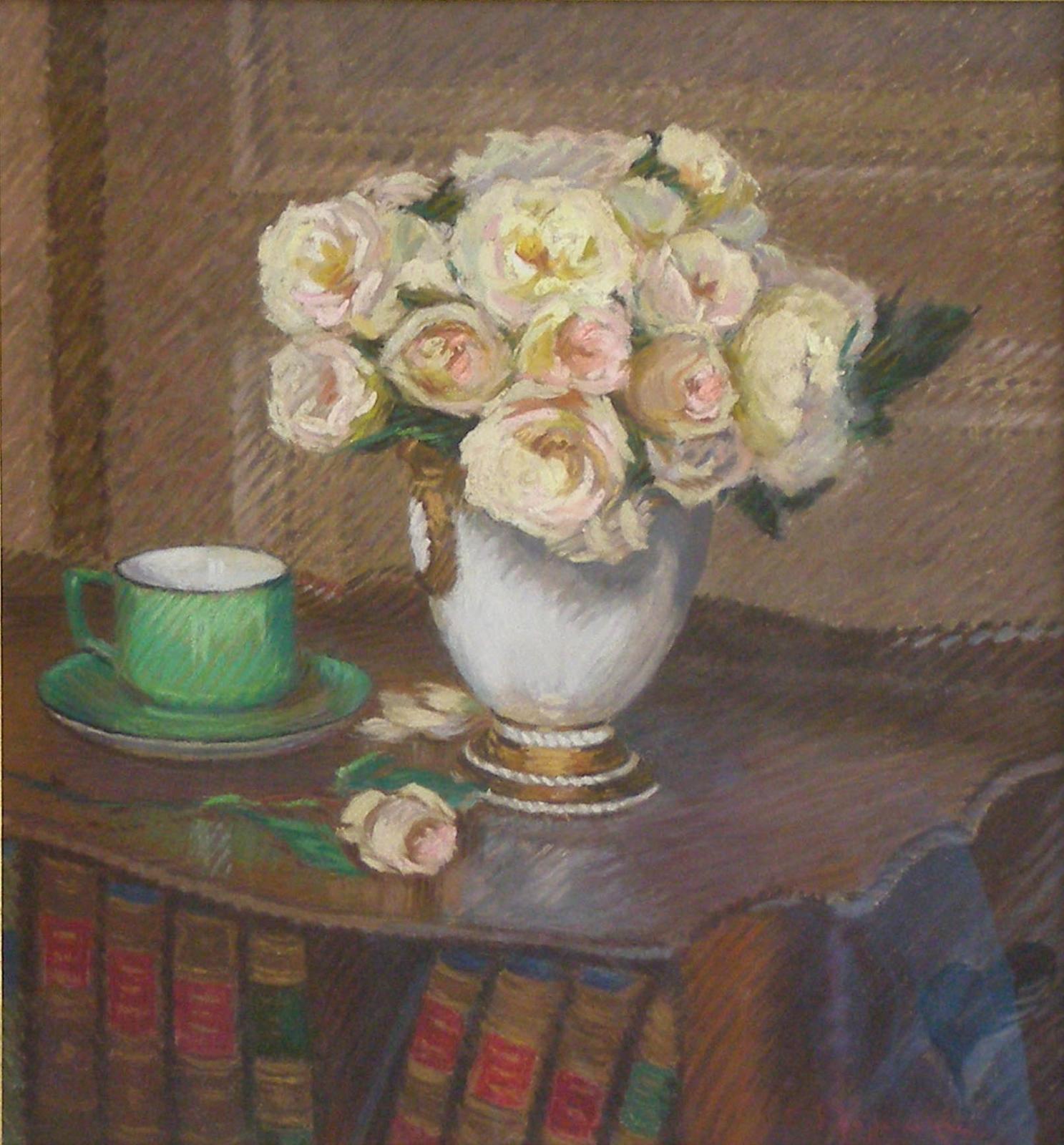 Vase de Roses et la Tasse Verte