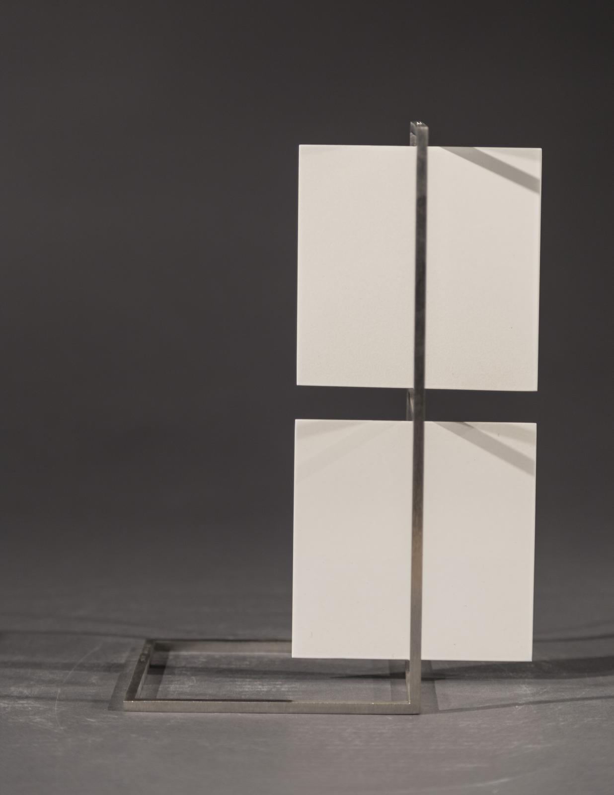 Roger Phillips, Two White Squares (maquette), 2017