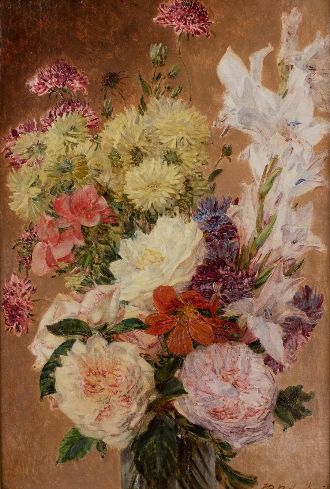A still life of flowers