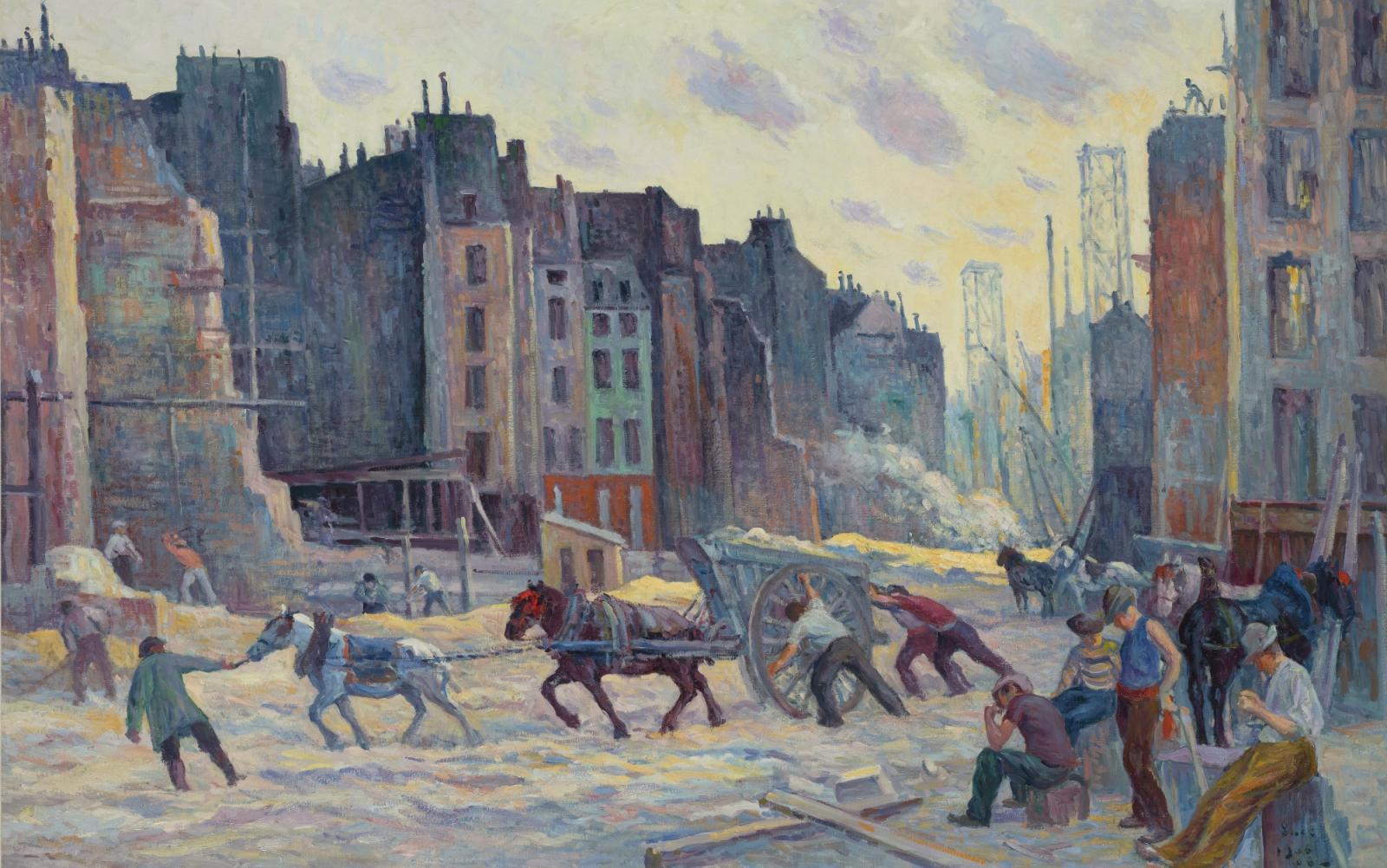 Maximilien Luce, Le Percement de la Rue Réaumur, Paris, 1906-08