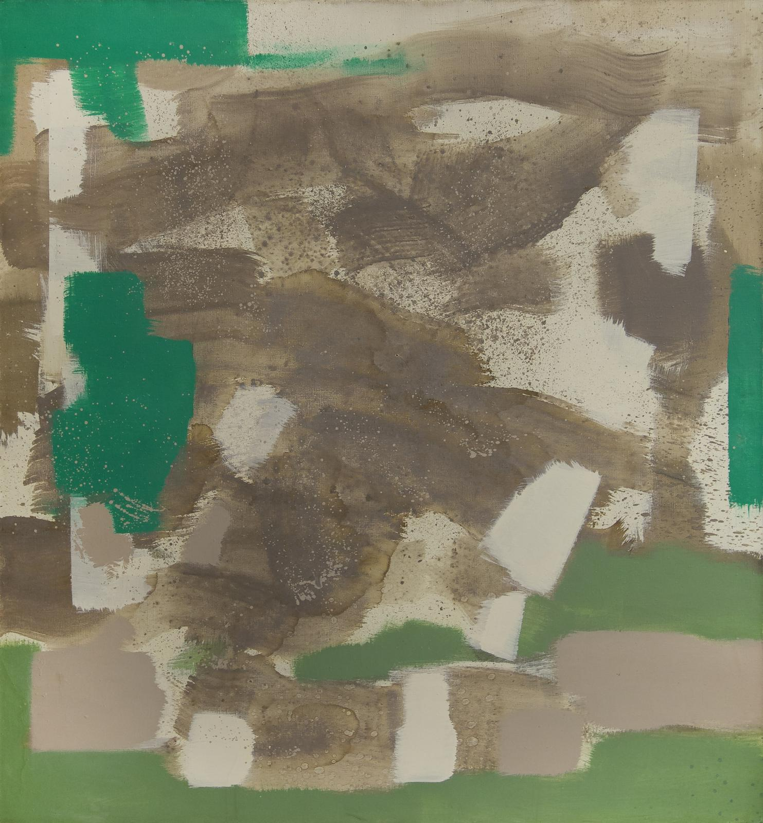 Untitled (Tan, Green, White)