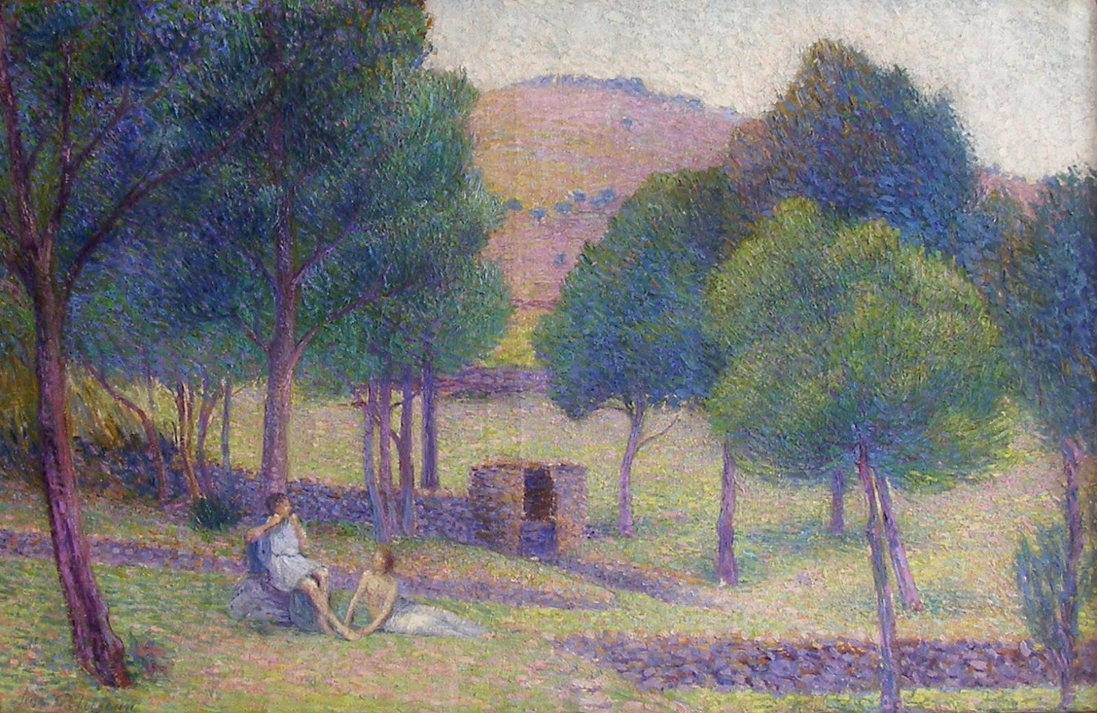 Hippolyte Petitjean, Paysage Idyllique, Circa 1902