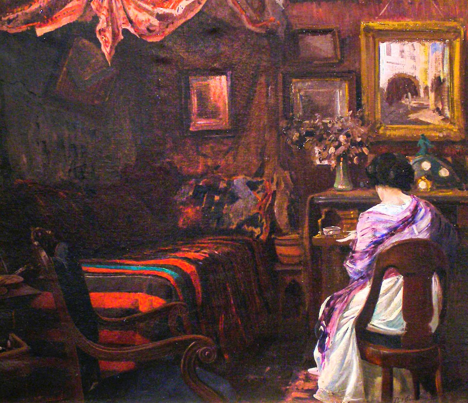 Paul-Emile Lecomte, Intimate Interior