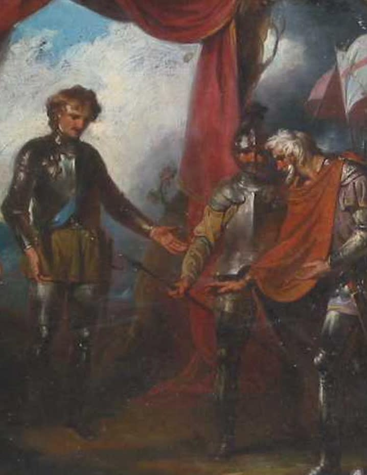 The Black Prince Receiving King John