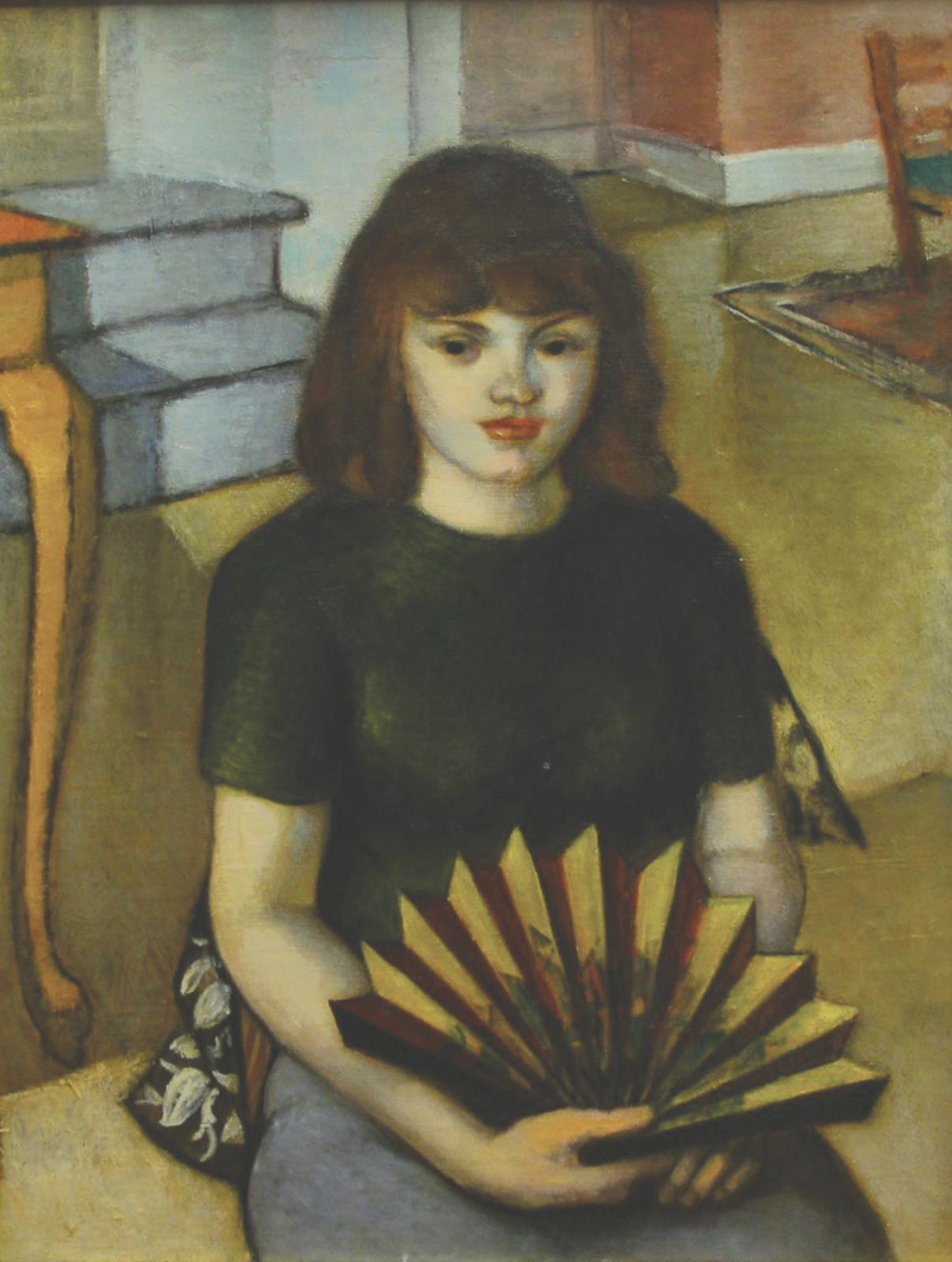 Woman with a Fan