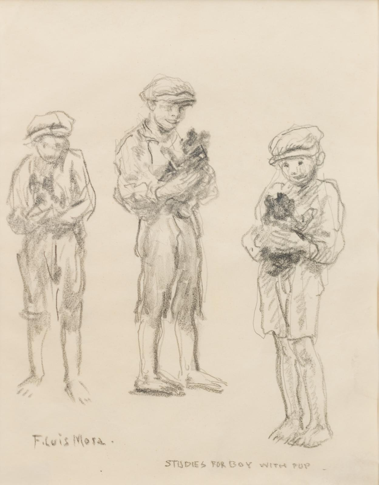Study For Boy with Pup