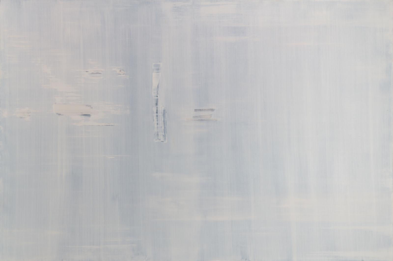 an abstract painting in cool grey tones