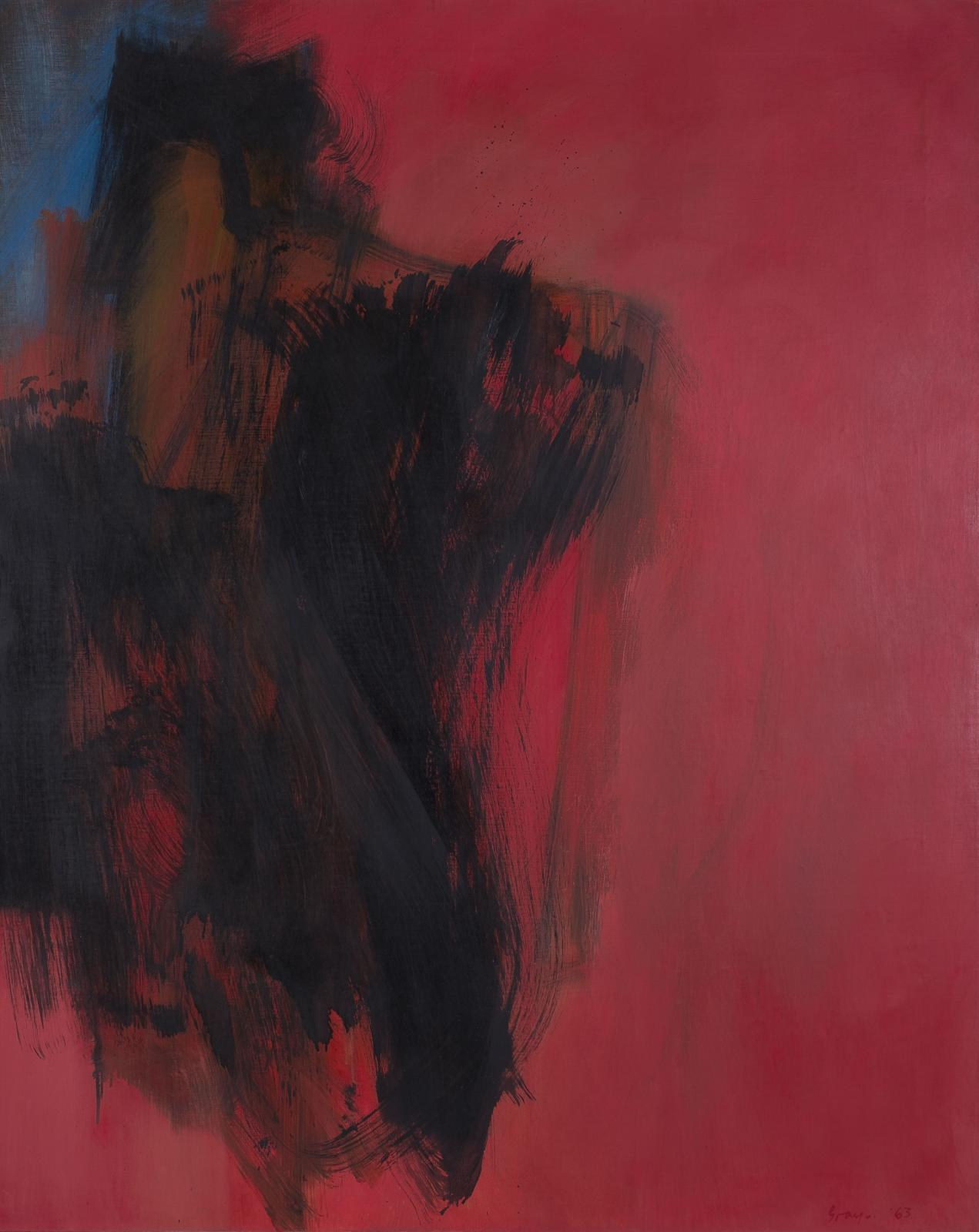Cleve Gray, Dark Entry, 1963
