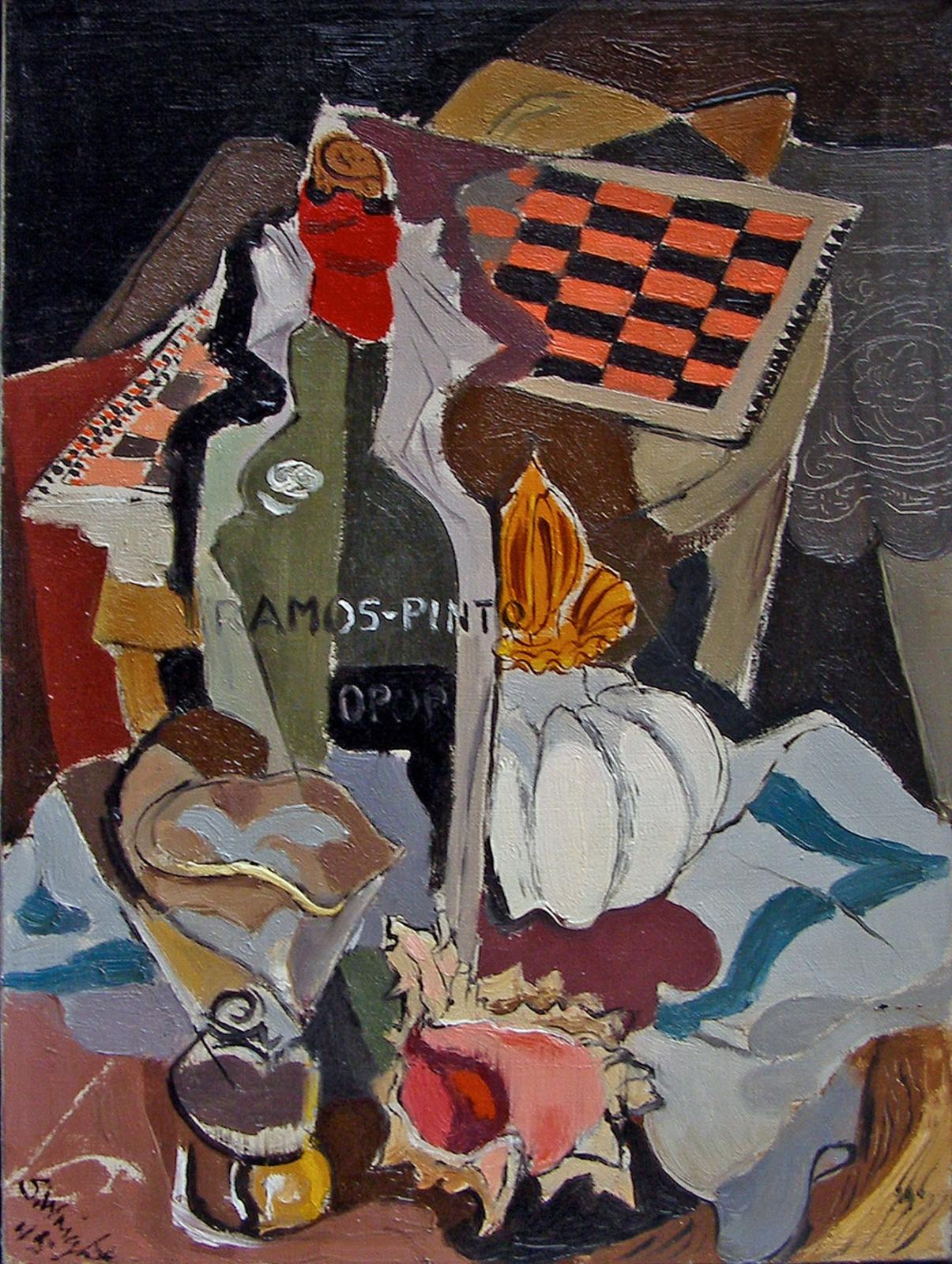 Untitled (Still Life with Game Board and Wine)