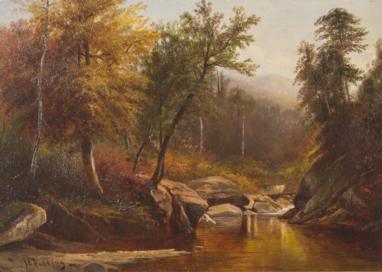 Joseph Antonio Hekking, Mountain Stream in the Adirondacks, Circa 1865