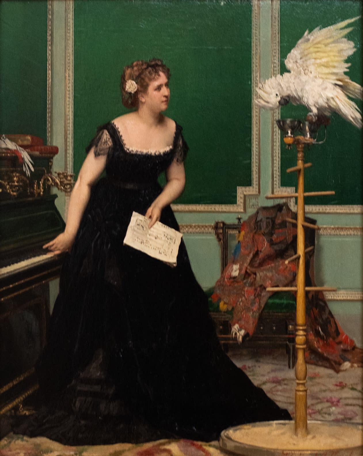 Woman with a Parrel