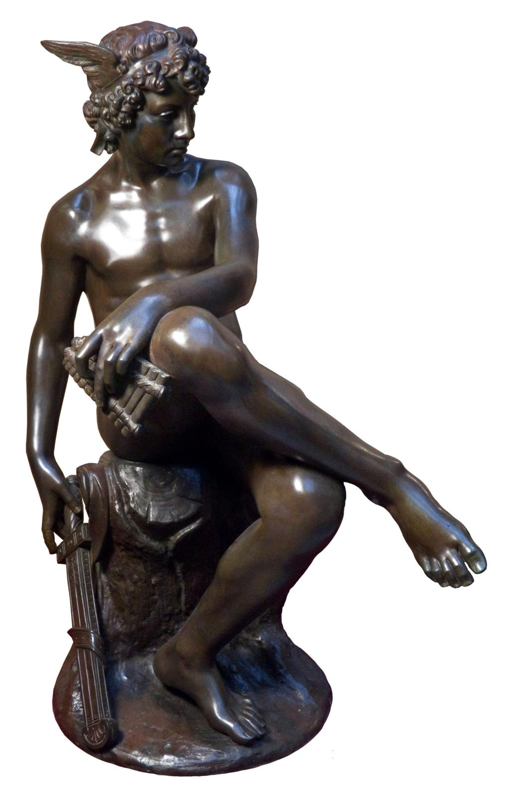 Marius Pierre Montagne, Seated Mercury, Circa 1867