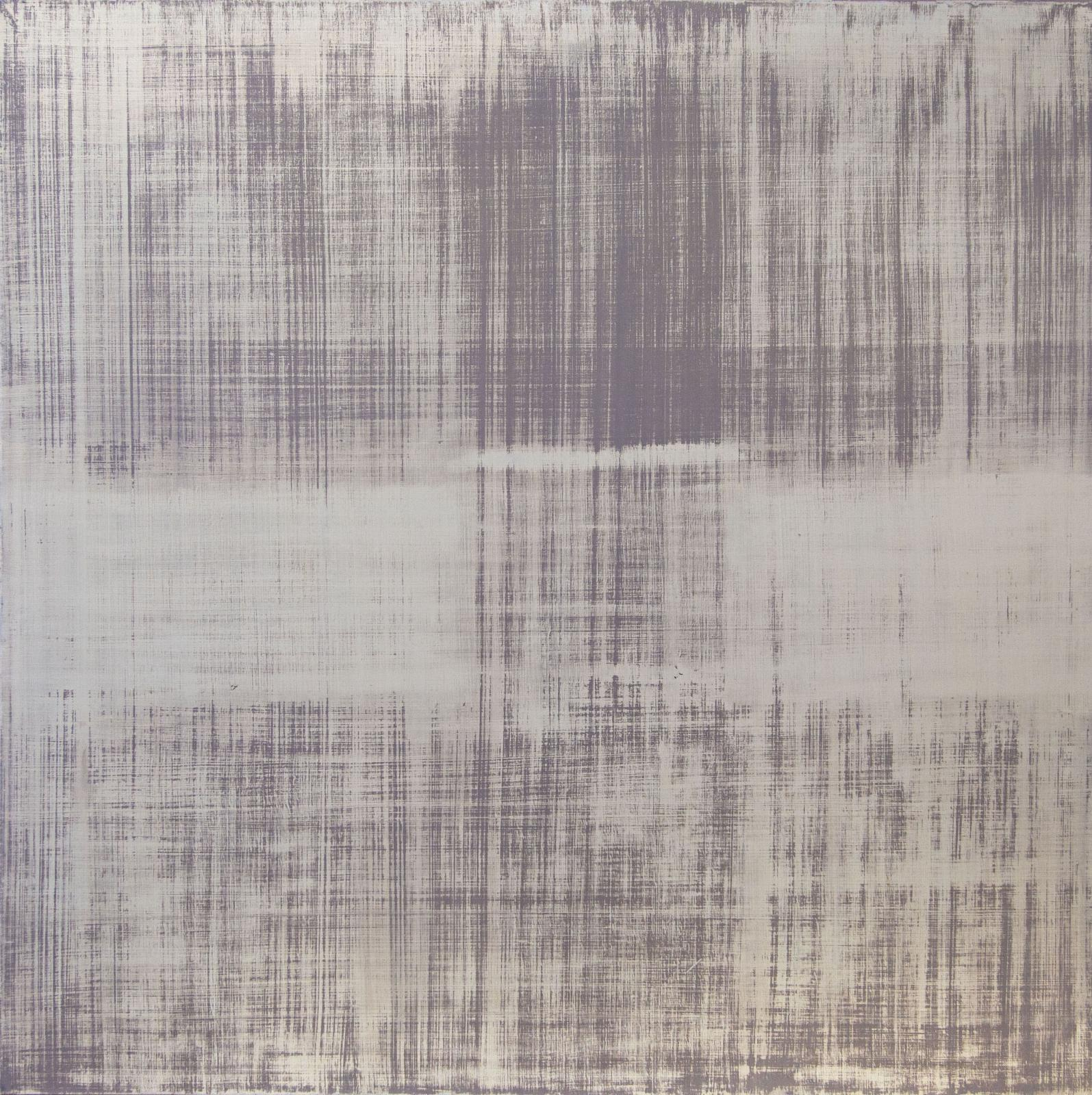an abstract painting in cool tones