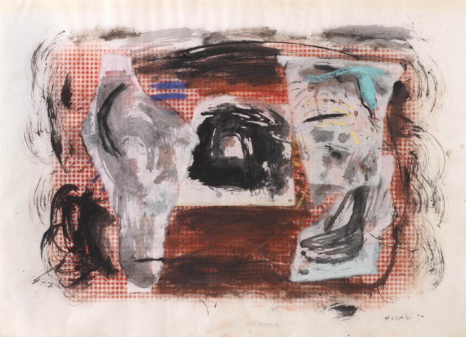 Jack Whitten, Psychic Fragments #3, 1988