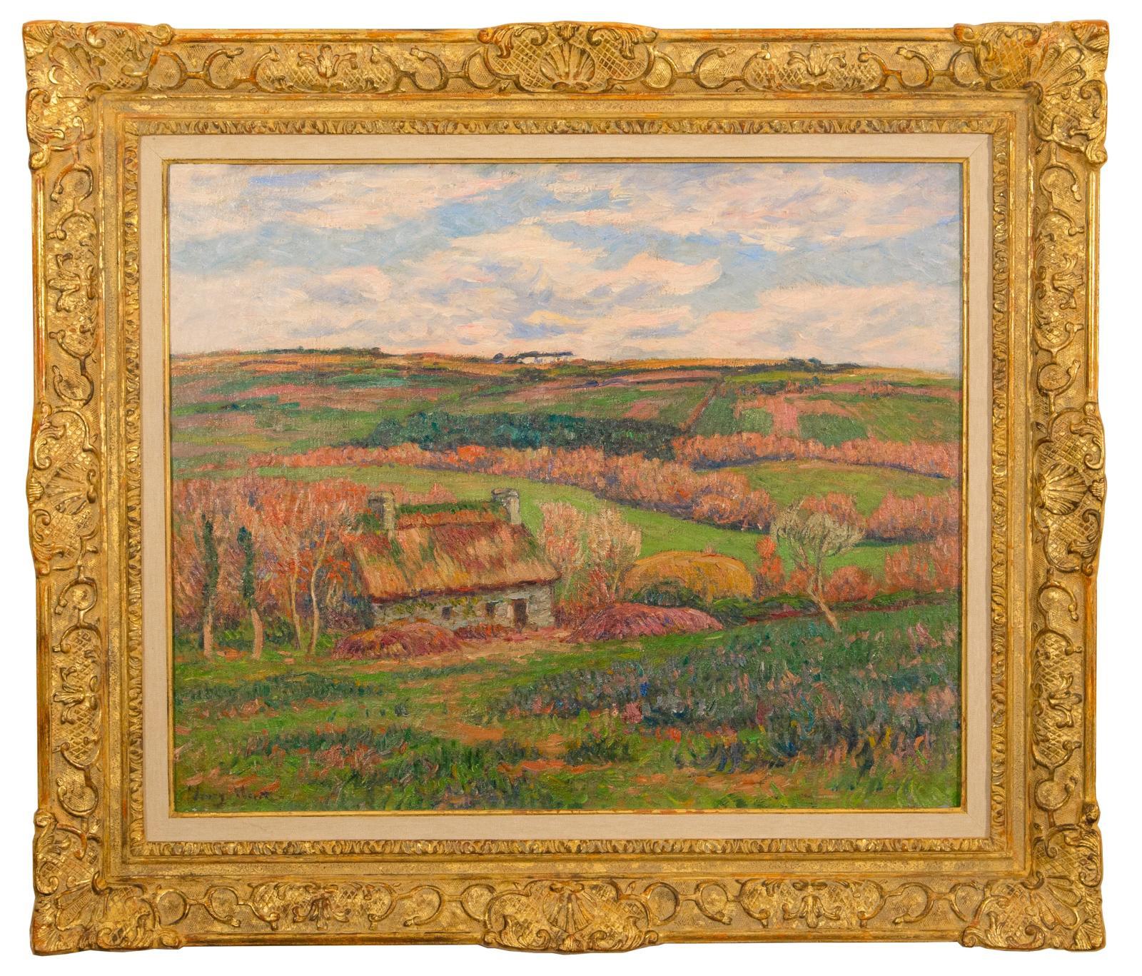 Paysage à la Chaumière Bretonne